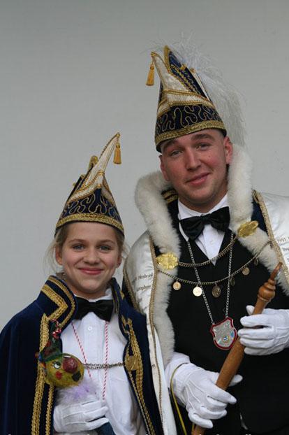 2008 - Prins Johnny de 22ste en Jeugprinses Kyara de 22ste uut Hessum-City