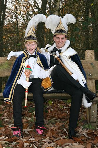 2015 - Prins Koen de 1ste en Jeugdprinses Happy Laura de 1ste