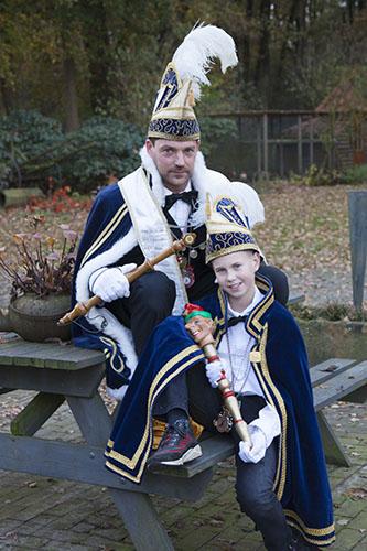 2017 - Prins Tinus II van Erve Meijerink en Jeugdprins Schuimkop Diede I
