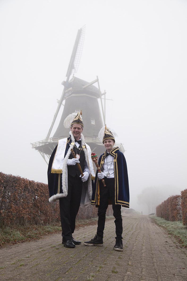 2018 - Prins Gijs de 1e uut Hessem en Jeugdprins Jelmer de 1e van de Vlierhoek